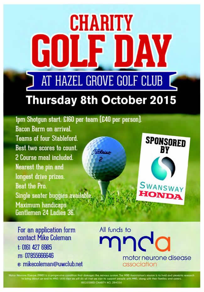 Charity golf day poster